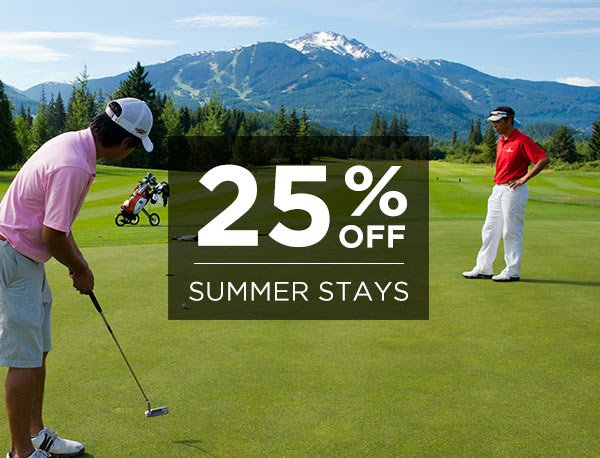 25% Off Summer Stays!