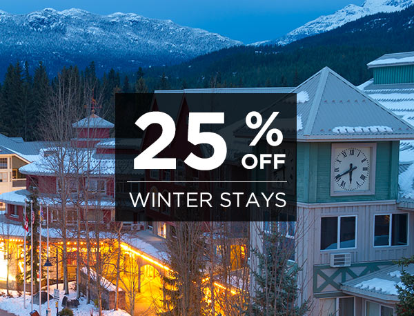 25% Off Winter Stays