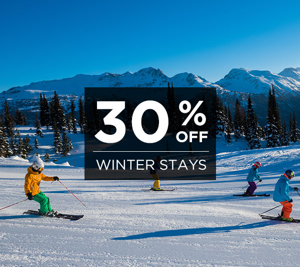 Save up to 30% Off Winter Stays