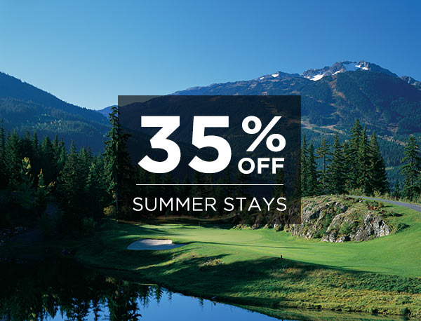 Save up to 35% Off Summer Stays!