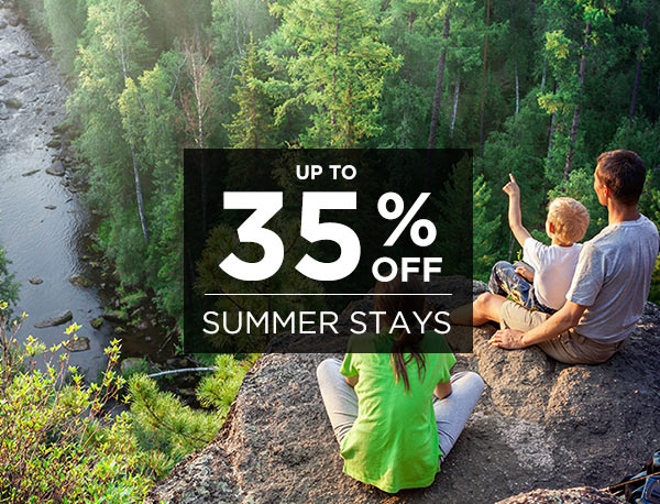 Up to 35% off Summer Lodging