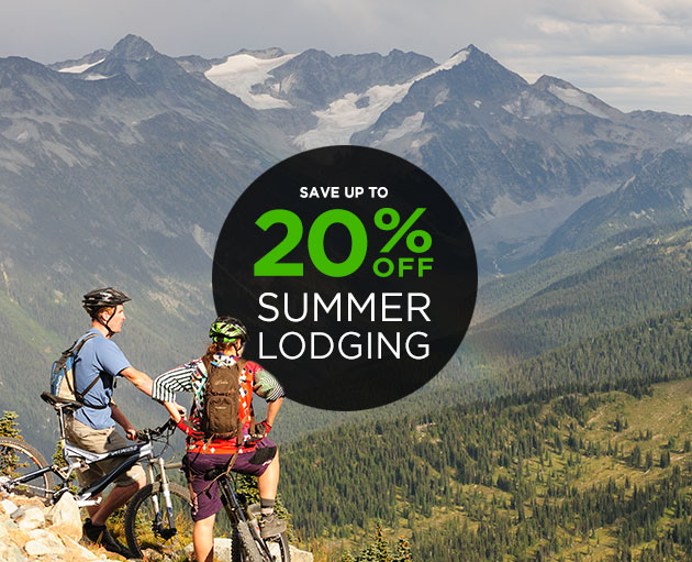 Up to 40% off Summer Lodging